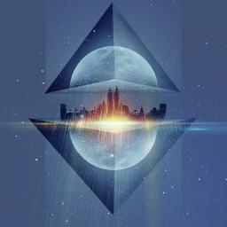 freetoedit surreal surrealism pyramid moon