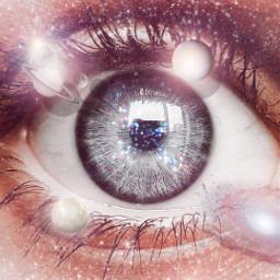 freetoedit eye madewithpicsart papicks galaxy