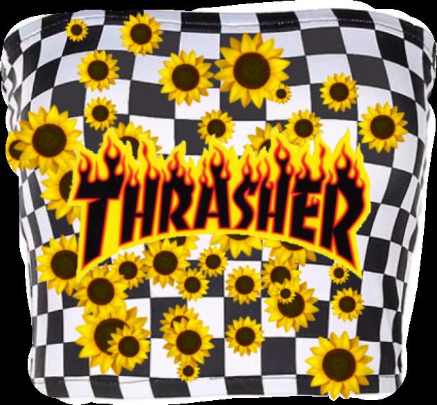 #freetoedit #trasher #clothes #sunflowercroptop #flowershirt #croptop #flowercroptop