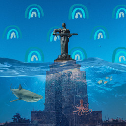 freetoedit blue ecsurrealisticworld