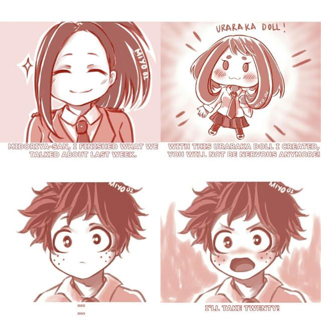 Well this is helpful for him. #myheroacademia #bokunoheroacademia #deku #uraraka #izuocha #romance #love #anime #manga