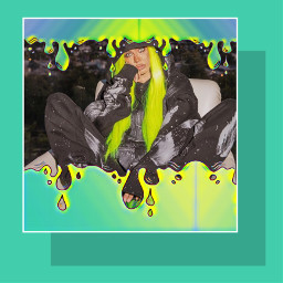 drip dripping colorful neons neonhair freetoedit