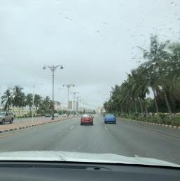 raindrops raining traveltreasures roadway salalah