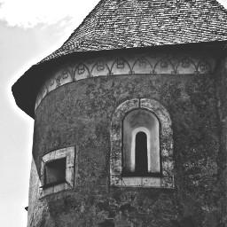 castle window blackandwhite