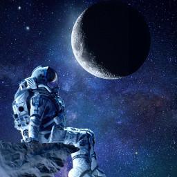 space moon astronaut astronomy universe scifi freetoedit