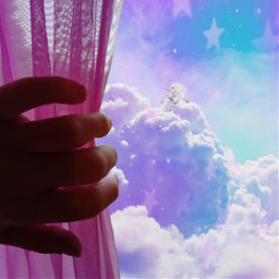 freetoedit window surreal pink unicorn ecsurrealisticworld surrealisticworld