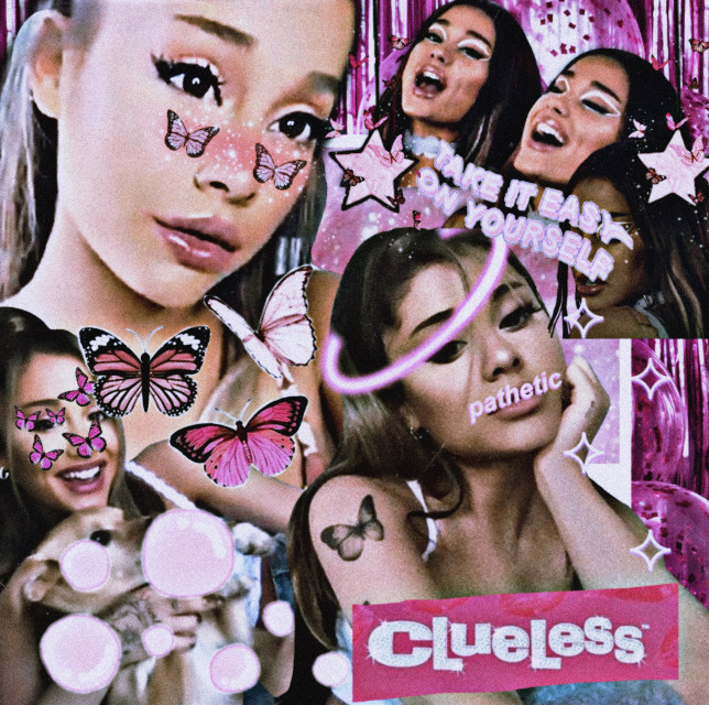 ~a r i~  ~a y e ~ ~h e r e~ ~i s~ ~a n o t h e r~ ~ e w~ ~e d i t~  ~s o~ ~y a~  (Enjoy these 2 edits! Prob wont post for a week or so ;) )  bye bye xo Liana   #clueless #arianagrande #grande #ari #pink #drramistry #halo #butterfly #bubble #notcomplex #cute #ew #sparkle  l o v e this clueless sticker! Might become *like* my new watermark thingy!!!