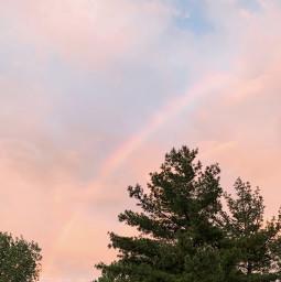 sky rainbow night sunset minnesota freetoedit