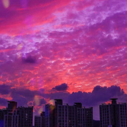 freetoedit sunset clouds city evening