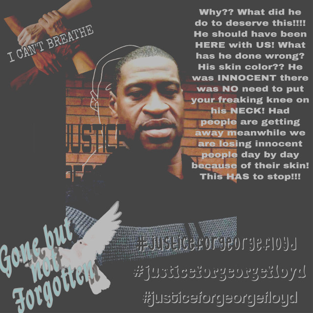 #nojusticenopeace #georgefloyd #hastoend nobody Deserves this! This has to stop #freetoedit
