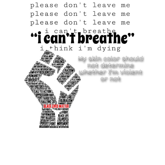 #freetoedit #blacklivesmatter #cant #breathe