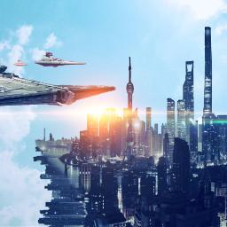 freetoedit space spaceship alien city ecsurrealisticworld surrealisticworld