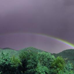 rainbow mountain forest rainy skylovers