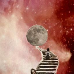 freetoedit galaxy moon space redsky ircmoonbeam moonbeam