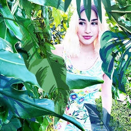 freetoedit tropical green girl plants srcmonsteramoment monsteramoment