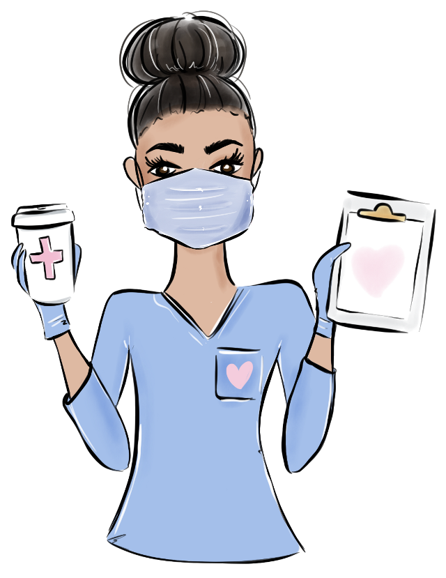 #nurse #medical #covid19 #coronavirus #poorly #unwell #hospital #coffee #clipboard #facemask