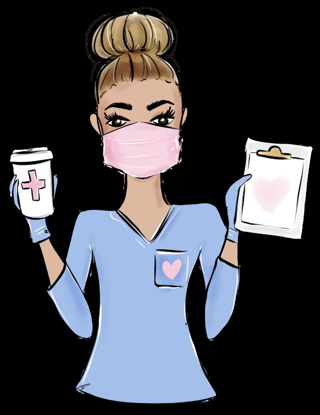 #nurse #medical #covid19 #coronavirus #poorly #unwell #hospital #coffee #clipboard #facemask
