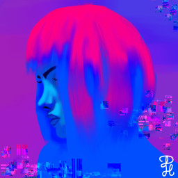 glitch purple colorpaint art neon