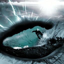 freetoedit myedit eye snow snowboard