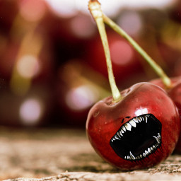 freetoedit cherry teeth red