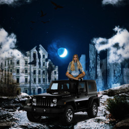 girl jeep imagimation stayinspired clouds freetoedit