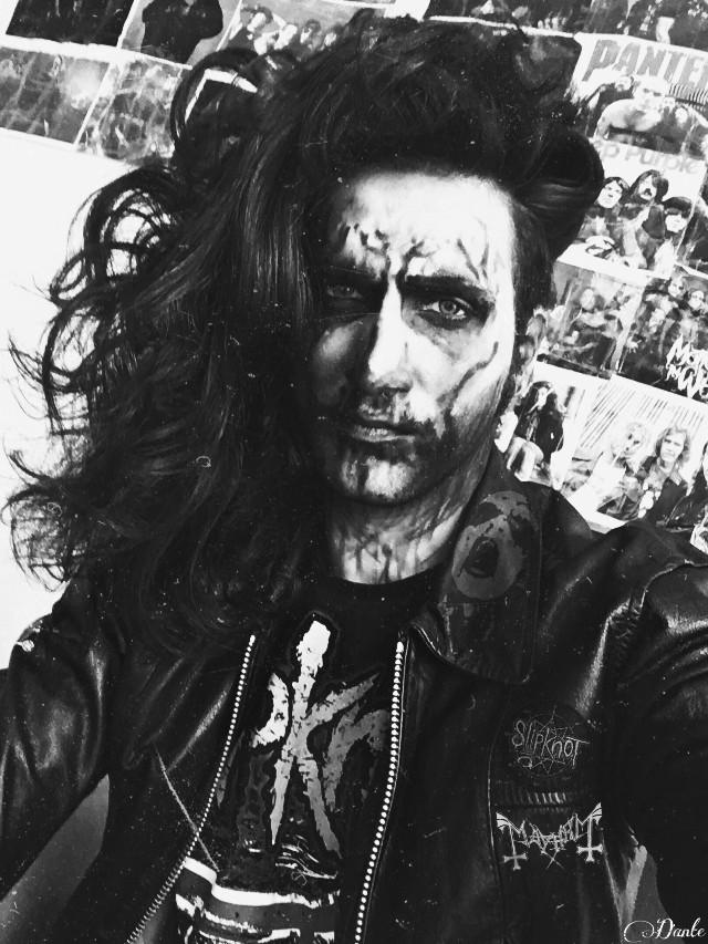 #freetoedit #goth #gothic #blackmetal #metalhead #slipknot #blackandwhite #demon #Danteuundeads13