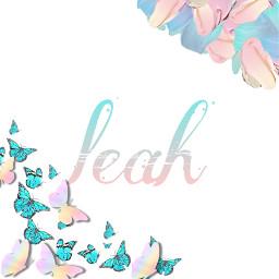 leah name nametag nameaesthetic nameart