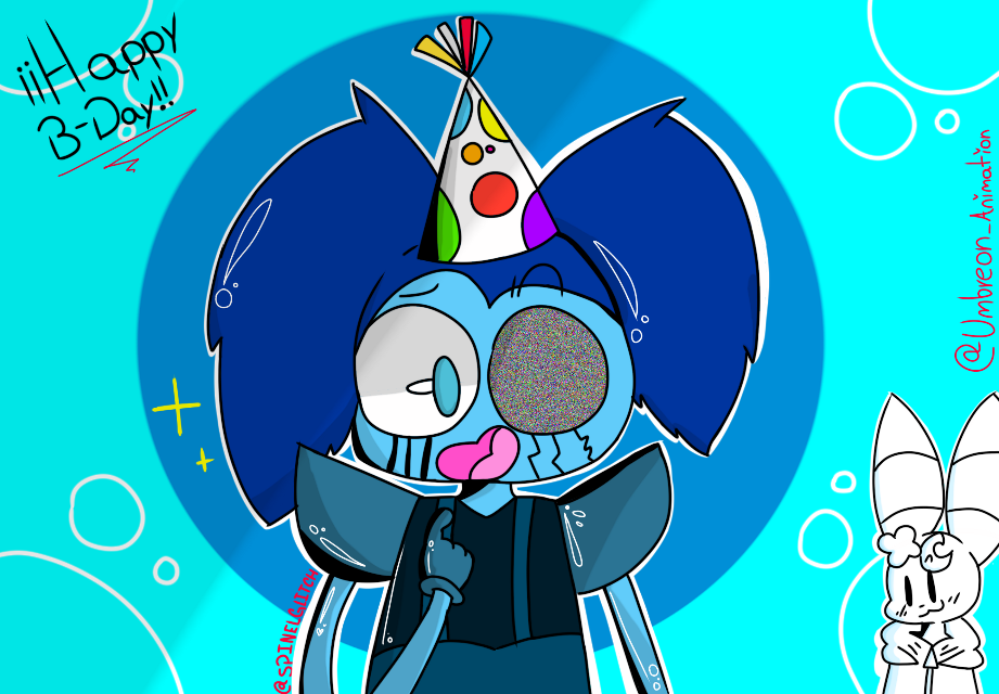 @spinelglitch happy birthday, I hope you have a good time and I'm sorry for publishing it a little later, I hope you like it and thanks for everything💕💕💕💕💕 ________________________________________________  @spinelglitch feliz cumpleaños, espero que lo pases bien y lamento publicarlo un poco más tarde, espero que te guste y gracias por todo💕💕💕💕 ----------------------------------------------------------------------  #happybirthday #happybday #myart #gift #art #draw #drawing #digitalart #💞💞💞💞 #mydrawing #😔😔