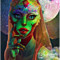 myedit alien alienart alienroyalty colorful ircmoonbeam freetoedit