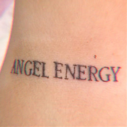 soft aesthetic angel energy tattoo freetoedit