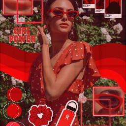 freetoedit red aesthetic glasses beautiful
