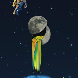 freetoedit picsart moon holographic grime ircmoonbeam