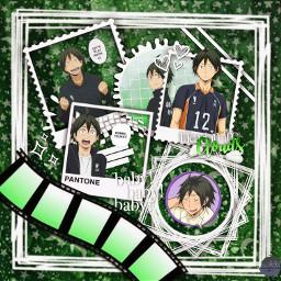 yamaguchi haikyuu yamaguchitadashi green