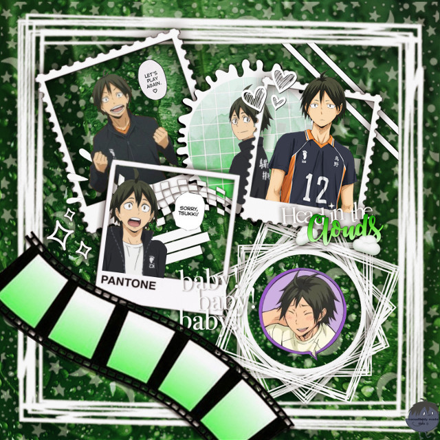 thank you @gxldenssnitch for letting me use your template :) #yamaguchi #haikyuu!! #yamaguchitadashi #green