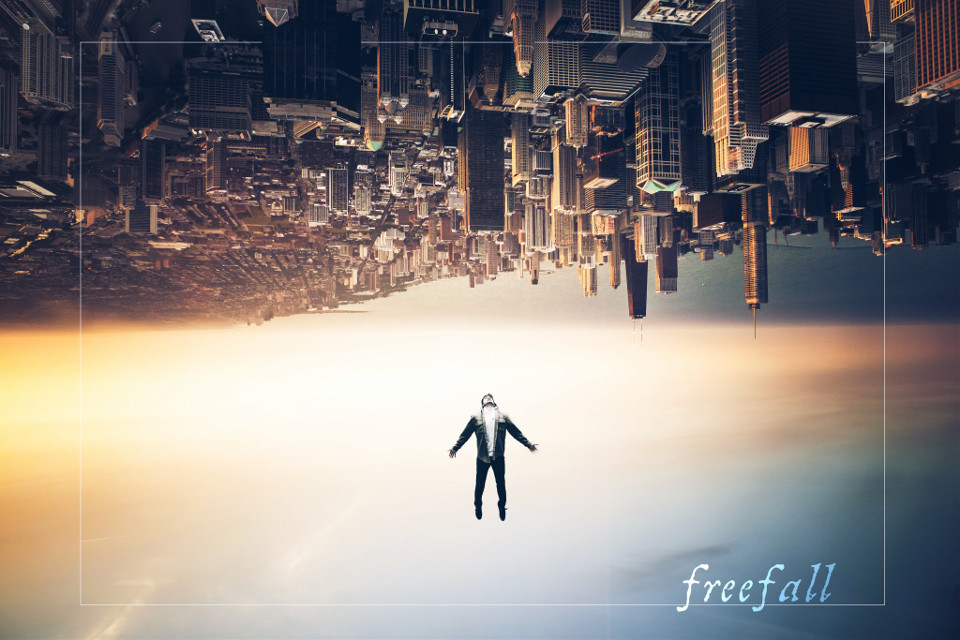 #invitations #art #freefall #surreal #sky #city #person #people #summer