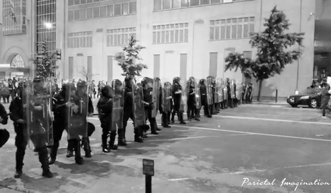 Police line-up to block protestors from advancing. St. Louis, Missouri Photo by: Parietal Imagination Art @pa, June 1st, 2020 #protests #riots #georgeflynn #donotedit #myphoto #myphotography #vip #parietalimagination