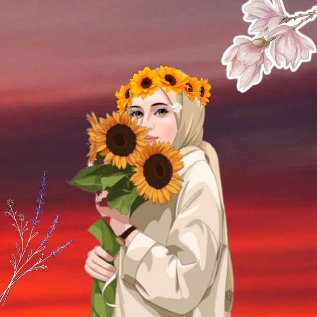 #freetoedit #sunset #sunflower