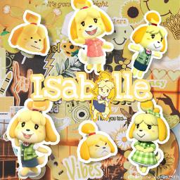 freetoedit isabelle animalcrossing yellowaesthetic yellow