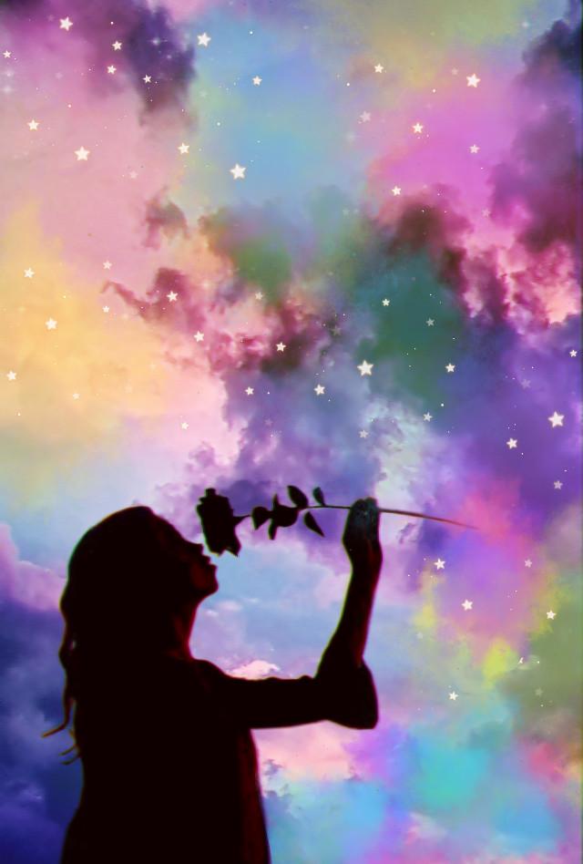 #freetoedit #silhouette #newbrushes #@picsart #paintbrush #prism #prismeffect #glitcheffect #Rainbowsplashbrush
