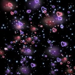 freetoedit theme darktheme neonhearts stars