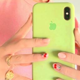 cherry colors pastel phonecase aesthetic