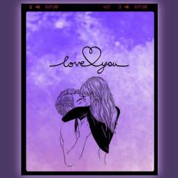 love loveyou liebe lila umarmung freetoedit