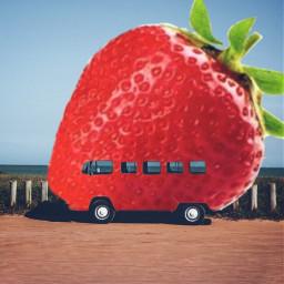 freetoedit awesome strawberry summer mrlb2000