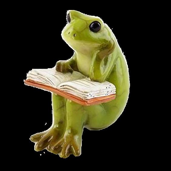 frog reading #goblincore