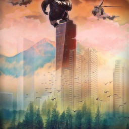 city fade kingkong freetoedit fx