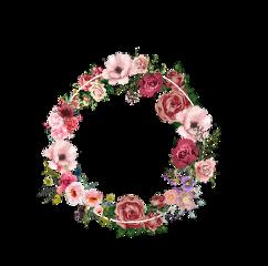 freetoedit венок цветы цветок круг