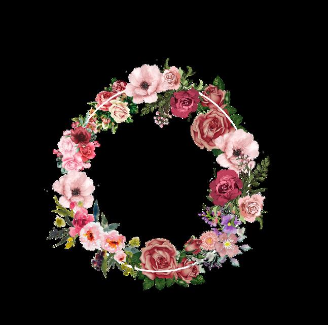 #freetoedit  #венок #цветы #цветок #круг #Wreath #Flowers #Flower #Circle