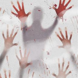 freetoedit cloudy noiseeffect handprints blood