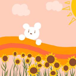 freetoedit draw mydrawing summer sunflower