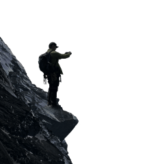 freetoedit man standing cliff silhouette